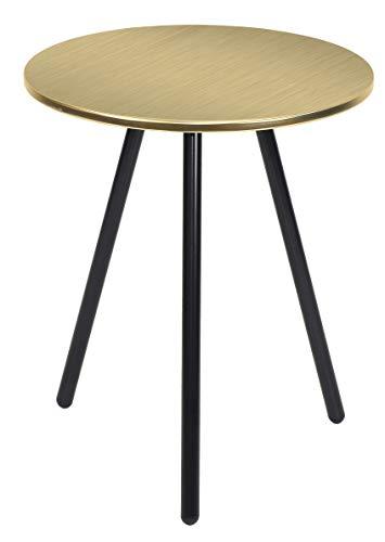 Present Time - Table d'appoint métal doré Disc Ø42 cm