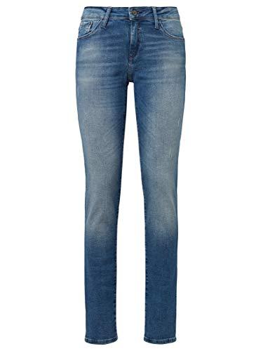 Mavi Damen Nicole Jeans, Mid Brushed Uptown STR, 28W / 32L