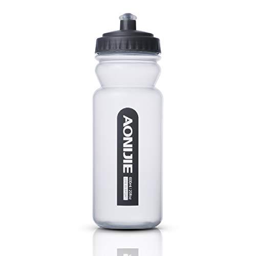TRIWONDER 600ML Borraccia Morbida, Soft Flask Senza BPA, Portaborraccia Idraca in PP, Borraccia Silicone da Corsa Ciclismo Running Trail (600ml/20.5oz)
