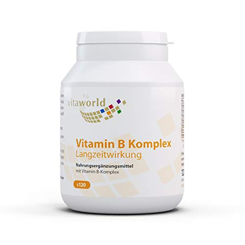 Vita World Vitamine B Complex Effect Op Lange Termijn - VEGAN - 120 Capsules - Gemaakt in Duitsland