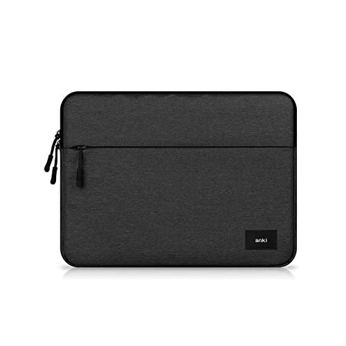 """Water Resistant Canvas Laptop Sleeve Case with Pocket for 12.2"""" Samsung Chromebook Plus V2 / 11.6"""" Chromebook 3, 11.5"""" RCA Galileo Pro, Dell Inspiron 11 3000, Dell Chromebook 11, Dell XPS 12 (Black)"""