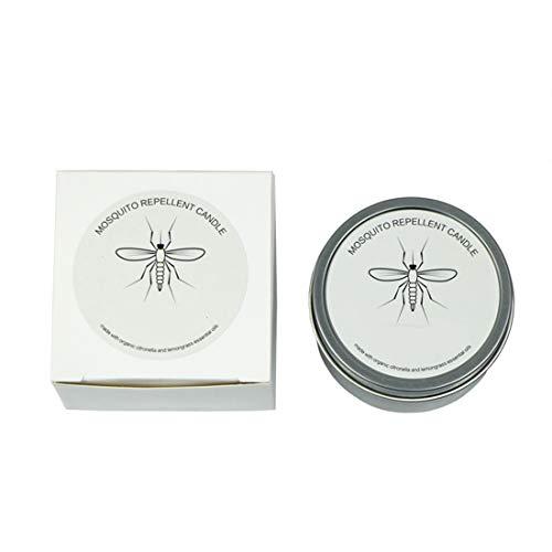 Lhl Vela Repelente De Mosquitos con Aceite Esencial De Citronela, Vela De Aromaterapia Sin Humo para Dormitorio Interior, Cera De Soja, Repelente De Mosquitos para Exteriores