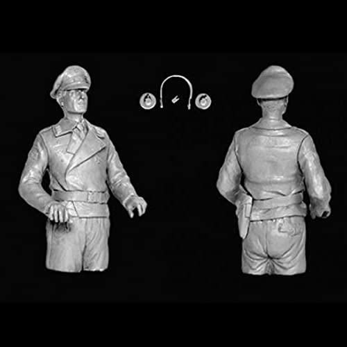 1/16 Tank Crew, Segunda Guerra Mundial, Dos Personas La Mitad del Cuerpo Figura de Resina de la Segunda Guerra Mundial Soldados GK Sin Recubrimiento Sin Color