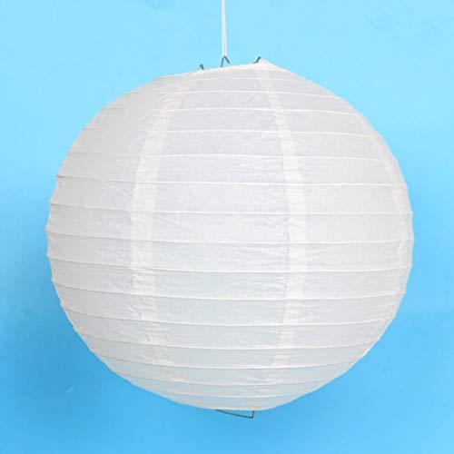 JIE Linternas de Papel de Colores Papel Chino Decoraciones Colgantes Linternas de Bolas Lámparas Blanco 12 Pulgadas