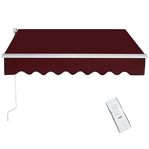 Tenda da Sole Manuale Avvolgibile Elettrico, Tenda da Sole a Muro con Bracci Estensibili e Manovella,Tettuccio Parasolo Ideale per Giardino e Balcone,Tenda da Sole motorizzato per Esterno,#5,3x1.5m