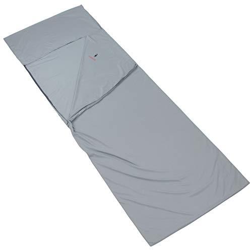 ALPIDEX Microfibre Drap Sac Couchage 225 x 80 cm Doublure Leger Compact Camping Voyage, Couleur:Grey Mountain