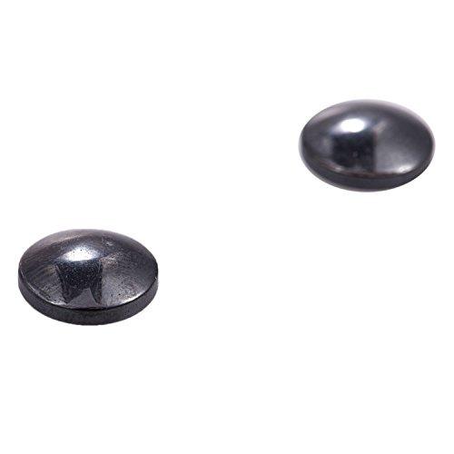 ACAMPTAR 1 Paar Schoenheit schlank Magnetismus Ornamente Ohrringe Koerperpflege Akupunkturpunkte Massagegeraet gesunde Ohrringe schwarz