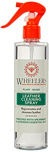 Wheelers Natural Leather Cleaning Spray, 300ml | Cleanses, Refreshes & Rejuvenates Leather | Natural Plant-Based Ingredients Clear WHE 06004 A