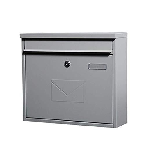 WCJ Huishoudelijke eenvoud muur gemonteerde brievenbus voor laden Mail Box met sleutel slot brievenbus, villa, restaurant (kleur: zand grijs)
