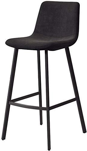 QTQZDD Black Velvet High Stool barkruk van metaal, moderne barkruk met rugleuningen en zonder arm, 150 kg draagkracht 2 2