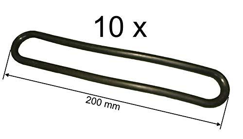 FKAnhängerteile 10 x Gummi Spannring - Abspannring 200 mm lang - Ø 8 mm
