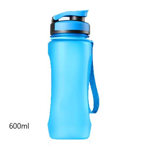 Water Fles Vaatwasser Safe Travel Mok Geen Rietje BPA Gratis Lek Bewijs Herbruikbare Grote Water Kruiken met Tuit Koud Drank Gym Outdoor Wandelen Camping Fitness 600ml Smalle Mond