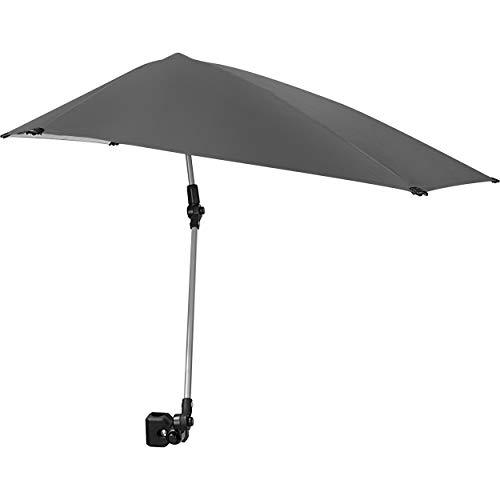 Sport-Brella Versa-Brella SPF 50+ Adjustable Umbrella with Universal Clamp, Regular, Gray