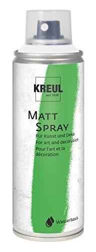 Kreul 76311 - Farbspray, klassisch matte Sprühfarbe auf Wasserbasis, hochpigmentiert und wasserfest, styropofest, für Innen und Außen, 200 ml, weiß
