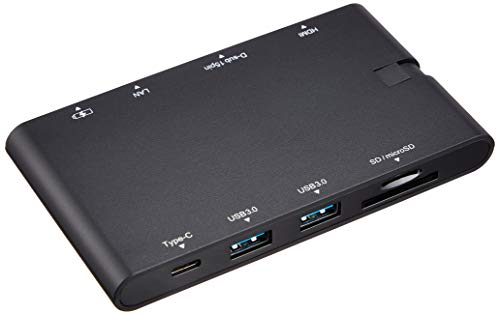 エレコム ドッキングステーション USB-C ハブ PD対応【Type-C×2/USB3.0×2/HDMI/D-sub/LAN/SD+microSDスロッ...