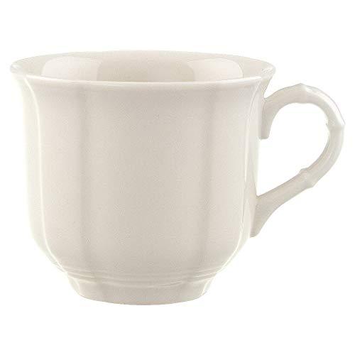 Villeroy & Boch Manoir Kaffeetasse, 200 ml, Höhe: 6,7 cm, Premium Porzellan, Weiß