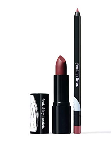 Amazon-Marke: find. Flawless elegance (Lippenstift, glänzend n.4 + Lippenkonturstift n.7)