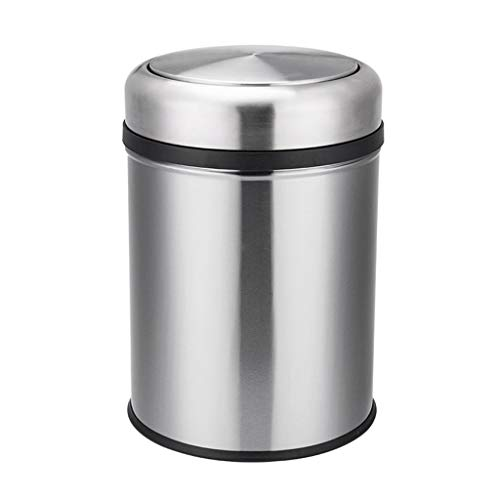 Best Price Swing-Top Kitchen Trash Large, 15L Garbage Can for Indoor, Outdoor or Commercial Use,Stai...