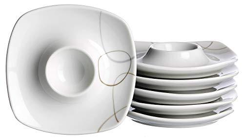 Ritzenhoff & Breker Vajilla, Porcelana, Beige, 12 x 12 x 2 cm, 6 Unidades