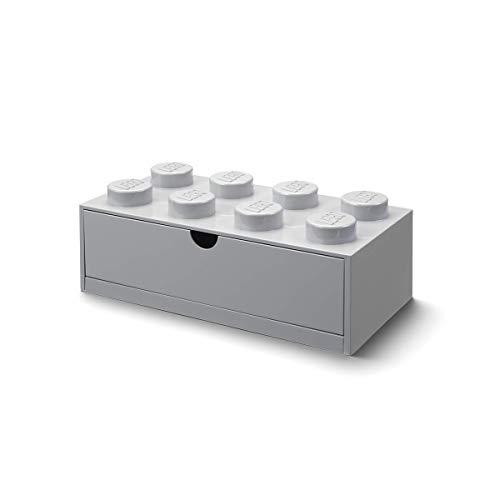 LEGO- Tavitoys, Desk Brick Drawer 8 Gris Juguetes para apilar y encajar, Color, grande (Room Copenhagen 40211740)