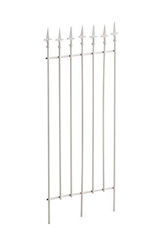 CLP Metall-Rankgitter Elisa I Größe: 100 x 50 cm, Stabstärke 0,7 cm I Rankhilfe für Kletterpflanzen I erhältlich, Farbe:weiß