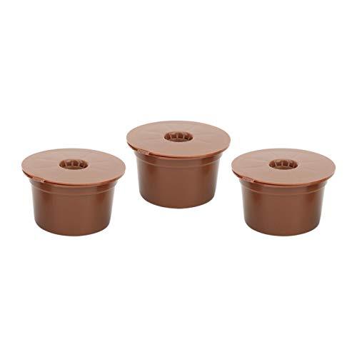 Deror Filtros de café 3 Piezas Reutilizables Recargables cápsula de café Filtro Taza Accesorios de Repuesto Aptos para Caffitaly