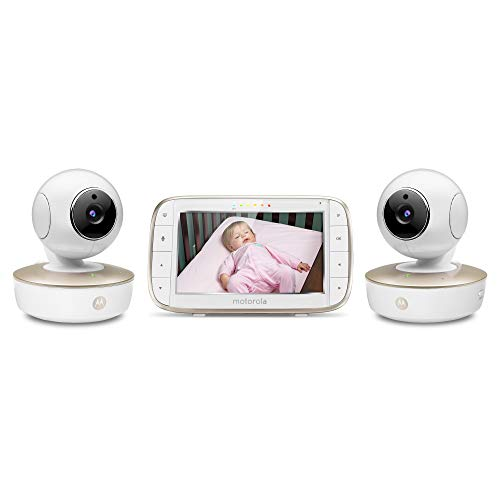 Motorola Video Baby Monitor - 2 Wide Angle HD Cameras with Infrared Night Vision...
