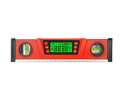 ZHBRE Elektronisches Levell,Digitaler Winkelmesser,Mit Magnetischer Unterseite,GroßEs LCD-Display, Leichtmetall-Wasserwaage,25 cm Digitale Wasserwaage, FüR Profis, Abstandmarkierung