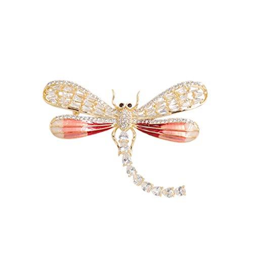 Fashion Broche, Cofre de libélula, Pin de género, Elegantes y atmosféricos Accesorios Occidentales (Color : Color Foto)