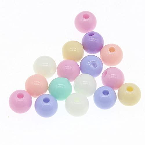 BOSAIYA EA01 100 unids 8mm Color de Caramelo acrílico Redondo Bola Espaciador de Perlas para la joyería Que realiza Accesorios de joyería de Bricolaje para artesanías Tl0508