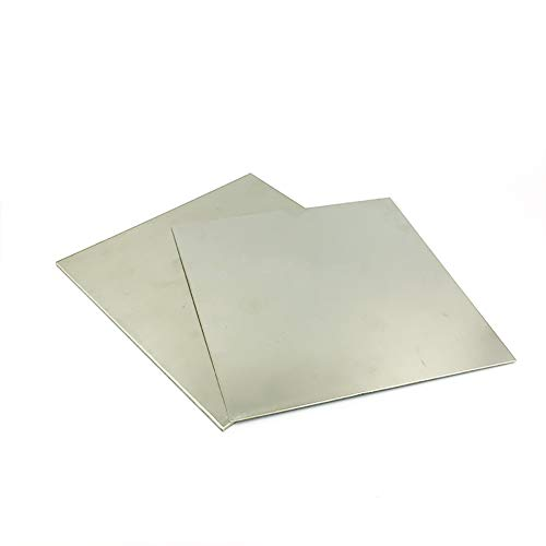 SOFIALXC Cupronickel Kupfer-Nickelblech Nickel-Platten-Foil 100Mm / 3.93Inch X200mm / 7.87Inch 2ST,Thickness 0.4mm