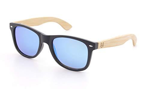 Raccoon Bamboo Sonnenbrille Polarisiert UV400 (Ice-Blue/Bamboo)