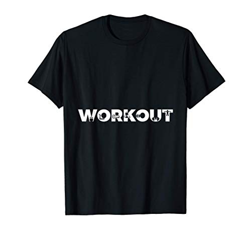 Workout Lifting Dumbbells Treadmill Fun Training T-Shirt