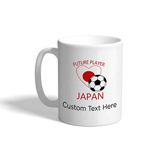 Aangepaste Grappige Koffiemok Koffiebeker Toekomstige Voetbalspeler Japan Wit Keramische Theekop 11 OZ Personalized Text Here Multi01