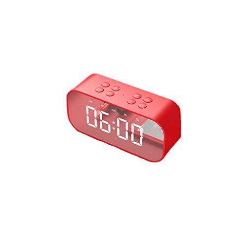 HLD Reloj Despertador Altavoz Bluetooth inalámbrico Reloj Despertador multifunción Elegante Simplicidad Dormitorio Cabecera Subwoofer Tarjeta TF Emisión Computadora de Escritorio Audio Despertadores
