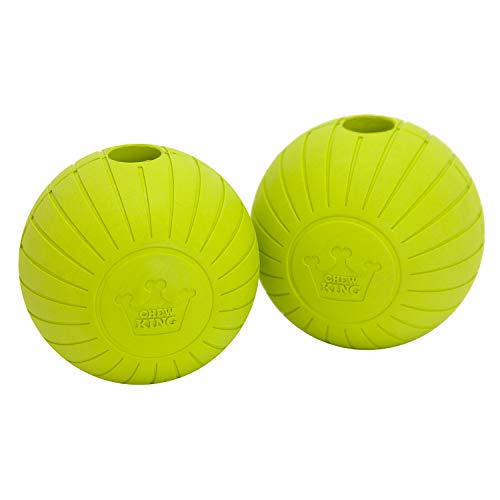 Chew King Fetch Balls Extremely Durable Natural Rubber Toy, Yellow, 3  (CM-0272-CS01)