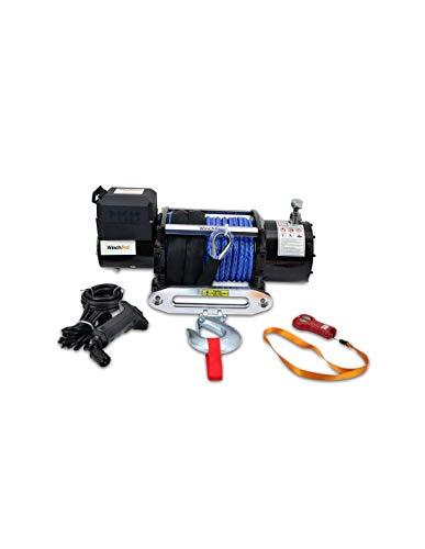 WinchPro - Cabrestante Eléctrico 12V 7700kg/17000lbs, 28m De Cuerda De Dyneema Sintética,...