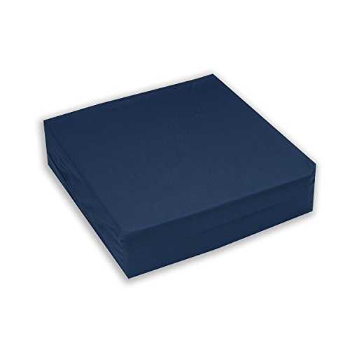 Hermell Convoluted Wheelchair Cushion, Egg Crate Foam, Removable Navy Blue Cover - 3 Inches Thick
