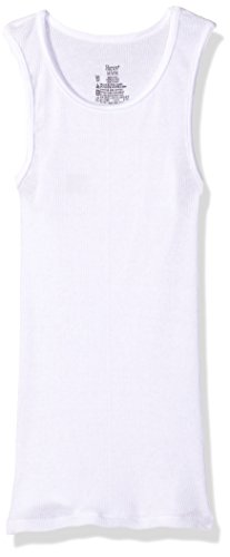 Hanes Boys' Big Ultimate Cool Comfort Tank Undershirt 5-Pack, White, Extra Large