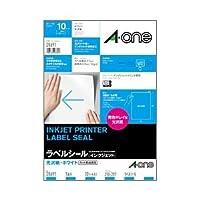 (業務用セット) インクジェットプリンタラベル(A4) ノーカット・光沢紙 1パック(10枚) 【×5セット】