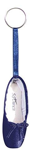 So Danca Schlüsselanhänger KCE01 in Form eines Ballettschuhes mit Schlüsselring - Farbe dunkelblau