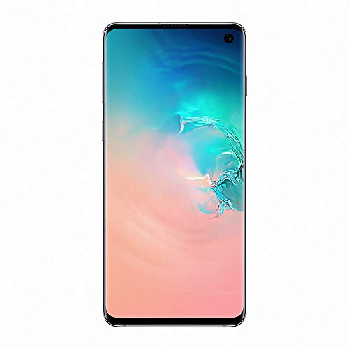 "Samsung Galaxy S10 Smartphone, 128GB, Display 6.1"", Dual SIM,  Bianco (Prism White) [Versione Francese]"