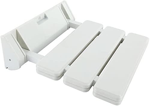FreeTec Asiento Plegable Para Ducha (Soporta Hasta 130 kg), Color Blanco ⭐