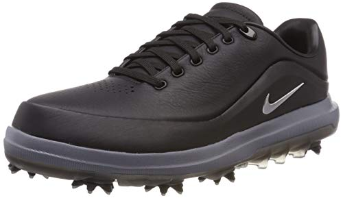 Nike Men's Golf Air Zoom Precision Shoes (12 D US, Black/Metallic Silver-Challenge Red)