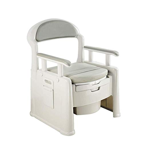 Bathroom Wheelchairs RRH Bedside Commodes Mobile Bedside Commode - Elderly Person/Pregnant Woman/Handicapped Person Potty Chair 7.5L Commode Barrel