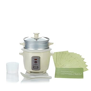 Lorena Garcia Skinny Mini One-Touch Cooker with Free Steamer Insert - Rich Cream
