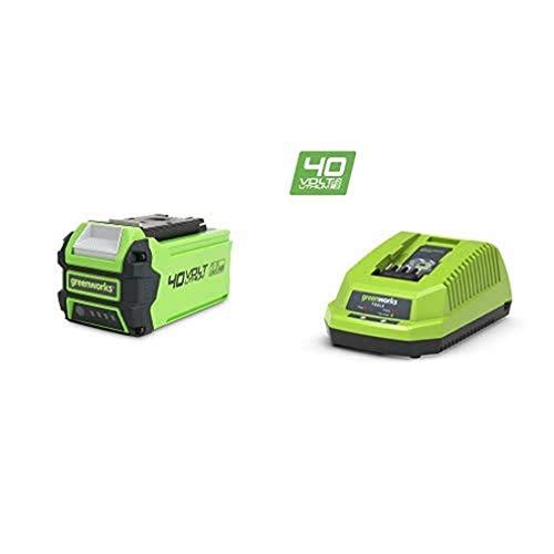 Greenworks G40B2 Batterie 4 V 2 Ah + Greenworks Chargeur Universel 40V (sans Batterie) - 2910907