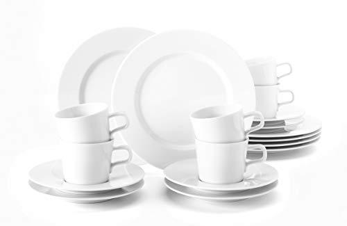 Seltmann Weiden 001.710911 No Limits weiß Kaffeeservice 18-teilig, Hartporzellan