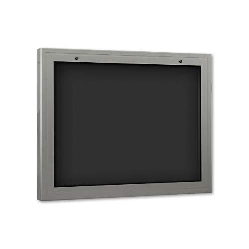 Schaar Profil de vitrine, rectangulaire, DIN A1, design en aluminium verre ESG (LxPxH 1025 x 75 x 800 mm, avec 10 Aimants, ouverture vers le bas, dos Anthracite, 1 poche