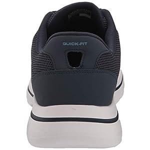 Skechers Men's Gowalk 5 Demitasse-Textured Knit Lace Up Performance Walking Shoe Sneaker, Navy/Blue, 12 Extra Wide US